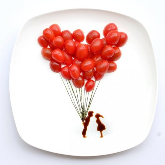 A gorgeous use of cherry tomatoes!
